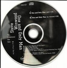 STEVE WINWOOD One and Only Man RARE EDIT PROMO DJ CD Single Traffic Blind Faith