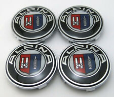 4Pcs 68mm Car ALPINA Racing Wheel Center Caps Hub Cover Hub Caps Emblems Badges