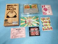 HOSHI NO KIRBY'S SUPER DELUXE  Nintendo Super Famicom  / SUPER NINTENDO REG CARD
