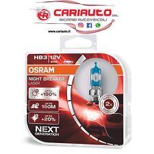 COPPIA HB3 +150 LAMPADE OSRAM NIGHT BREAKER LASER 9005NL-HCB