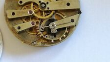 High Grade Swiss Detent Chronometer Pocket Watch Movement for parts or Restore