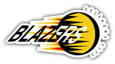 Oklahoma City Blazers CHL Hockey Logo Car Bumper Sticker Decal 6'' x 3''