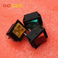 5PCS Rocker Switch With Red /Yellow/Green Light KCD4-201N 4Pin 2 Files 16A/250V