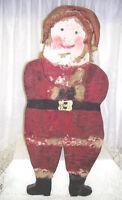 Antique Primitive Wood Santa Claus