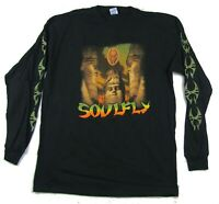 Soulfly Statues Spring Tour 2006 Black Long Sleeve Shirt New Official