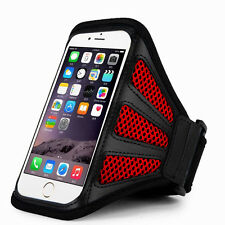 "iPhone 6 Plus 5.5"" Red Mesh Running, Jogging, Cycling Armband Mobile Phone Cover"