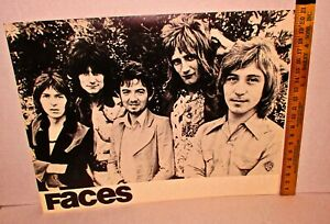 Original 1973 FACES (Rod Stewart) -Warner Brothers Records Promo Poster 28 x22""