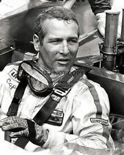 PAUL NEWMAN IN RACE CAR - 8X10 PUBLICITY PHOTO (DD-032)