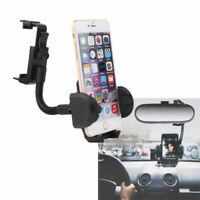 Universal Car RearView Mirror Mount Stand Holder For iPhone X 8 7 6S 6 Plus 5S