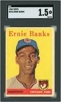 Ernie Banks Chicago Cubs 1958 Topps #310 SGC 1.5 Card Topps