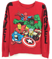 Avengers Juniors Shirt Iron Man Thor Captain America Spiderman Marvel Comics M