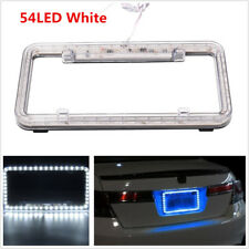 Universal 54 LED 12V Lighting Acrylic Plastic Car License Plate Cover Frame Kit