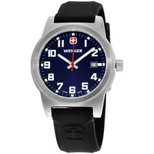 Wenger Field Classic Blue Dial Silicone Strap Men's Watch 010441129
