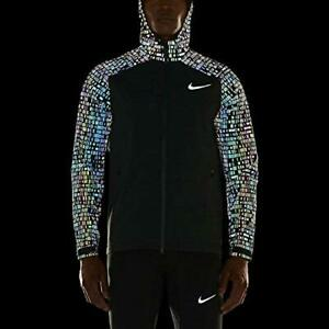 NWT Nike Hypershield Flash Running Jacket 3M Seaweed Green Medium 800903 364