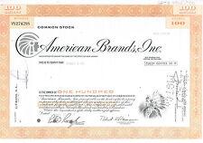 American Brands (Fortune Brands) Stock Certificate - Indian Vignette 1977 auUNC