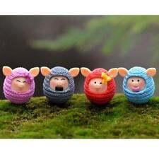 Set of 4 Miniature Pig in Sweater Fairy Garden Bonsai Dollhouse DIY Craft