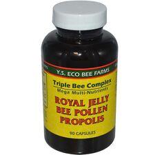 Y.S ECO BEE FARMS - ROYAL JELLY, BEE POLLEN & PROPOLIS - 90 CAPSULES