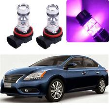 2x 100W 14000K Purple LED Headlight Bulb Kit Fog Light For Nissna Sentra 2004-18