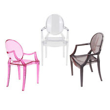 1/6 Scale Barbie Transparent/Red/Gray Plastic Arm Chair Dollhouse Miniature Tool