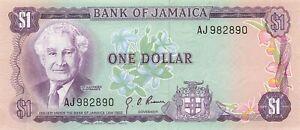 Jamaica 1 Dollar 1970 P-54 UNC
