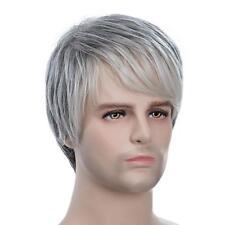"""9"""" Courte Perruque Homme en Droite Cheveux Humains Perruque Pleine Couleur"""