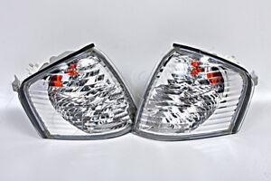 MERCEDES C Class W202 S202 1993-2000 Sedan Wagon Corner Lights Clear Chrome SET