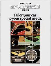 Volvo 200-Series Accessories 1978-79 UK Market Sales Brochure 240 260