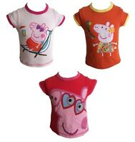 OFFICIAL PEPPA PIG Girls T-Shirt / Top 1 2 3 4 5 6 Years NEW