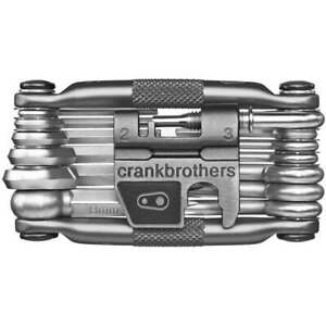 Silver Crank Brothers M19 Bike Multi Tool, 19 Functions with case/ Crankbrothers