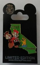 Disney Pin DLR Cast Ex 2012 California State Hollywood Backlot Chip & Dale Pin
