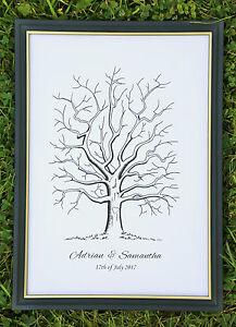 Personalised Fingerprint Tree Guest Book / Wedding / Birthday / Christening A