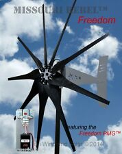 Rebel Freedom Package 24 V 1700 watt max 9 blade wind turbine Bare Steel BLK