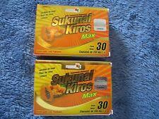 2 X SUKUNAI KIROS MAX AFRICAN MANGO+BROMELIA 60 CAPS/ MANGO AFRICANO .