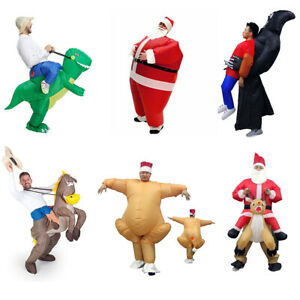 Adult Inflatable Funny Blow Up Fancy Dress Carry On Ride Costume Suits Christmas