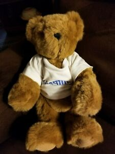 VERMONT Teddy Bear Co. Jointed 13 inch Teddy Bear Brown with Triaminic Shirt