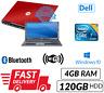 Barato Rojo Dell Portátil Windows 10 DVD Intel C2D 4GB RAM 120GB HDD Wifi Carga