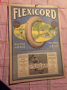 Ancien Carton FLEXICORD.  PNEU PERSAN