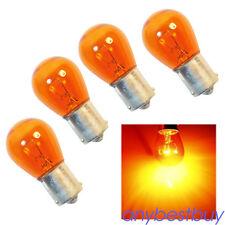4x Amber Large Bulb 1156 PY21W BA15S Bayonet Base Lamp 21W 12V Turn Signal Light