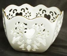 Lenox Eternal Hearts 5 sided Valentine bowl pierced design made Usa nice