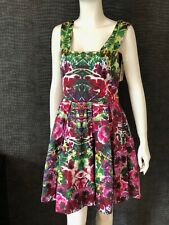 NEW WITH TAGS - YUMI TROPICAL SKATER DRESS - UK 12