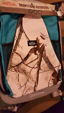 BLUE camo camouflage real tree breakup drawstring backpack purse tote NEW