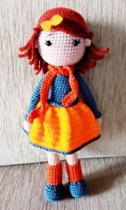 Handmade Crochet Barbie Doll Amigurumi Baby Soft Toys for Kids & Lovers Gifts