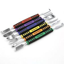 6PCS Repair Open Fix Tool Metal Pry Spudger Disassemble Set iPhone Galaxy Stick