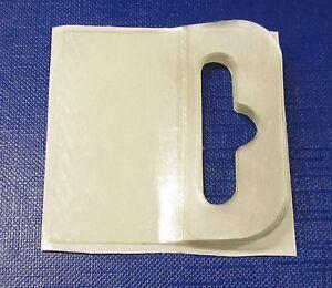100 Self Adhesive FLEXI Euro Hang Tab 50mm x 50mm BOOKLETS EuroSlot Hook Tabs
