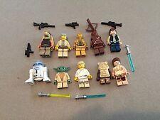 LEGO lot of 10 Star Wars Good Guy Minifigs Yoda Luke Leia Han R2-D2 Chewie L306