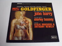 James Bond Goldfinger Soundtrack 1964 ORIGINAL Vintage Vinyl LP Record Album