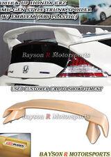 Mu-gen Style Rear Trunk Spoiler Wing (ABS) + Emblem Fits 11-14 CR-Z 2dr