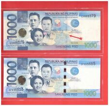 2013 PHILIPPINES 1000 Peso NGC ERROR  Note-- Security thread at reverse GX868379