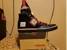 Vision Street Wear Mens Canvas Hi Top Retro BLACK Skate Shoe Size US 11 NEW