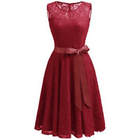 Women's Lace Bridesmaid Dress Elegant Sleeveless Short Party Cocktail Dress